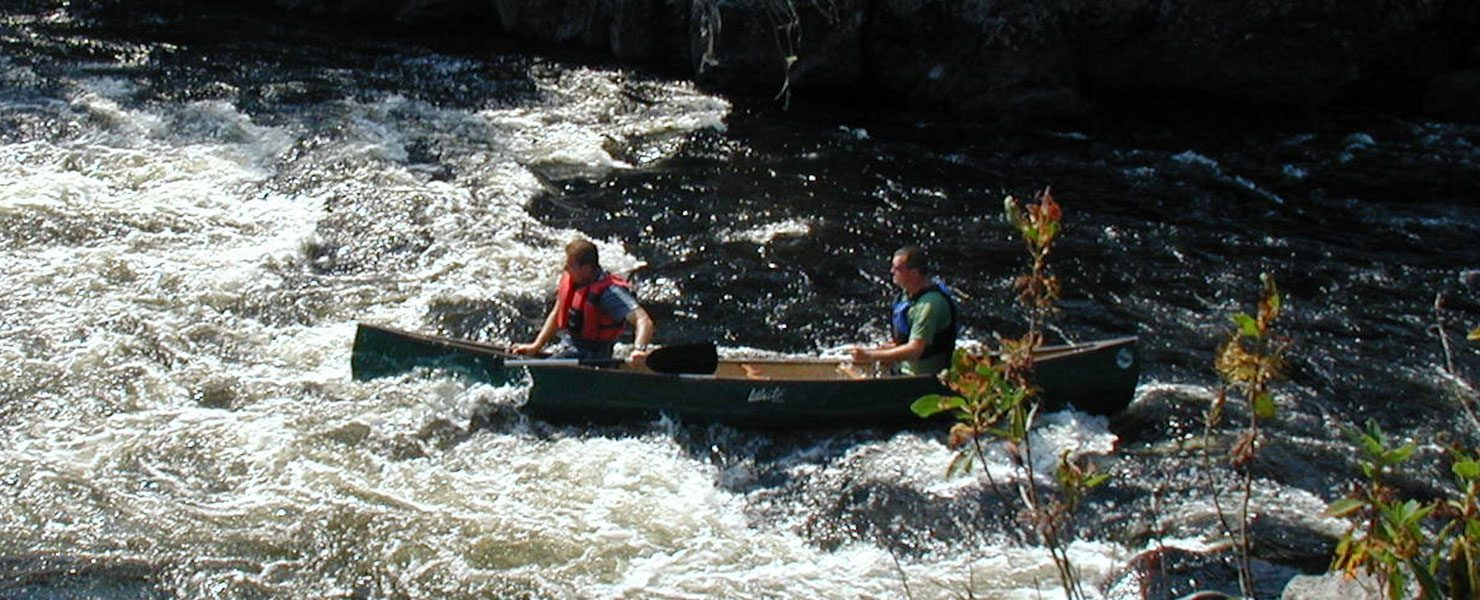 White water canoeing in Maine